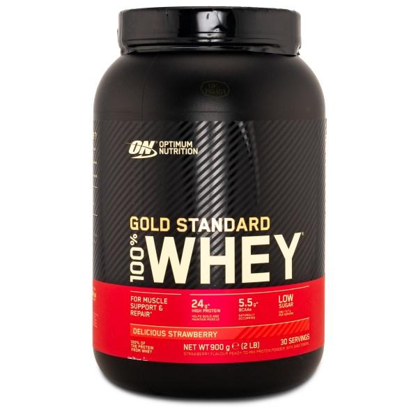 100% Whey Gold Standard Jordgubb 900 g