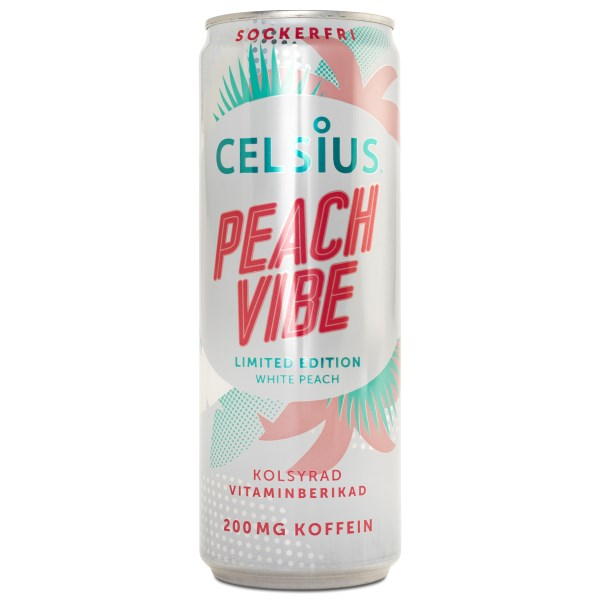Celsius Peach Vibe kolsyrad 1 st