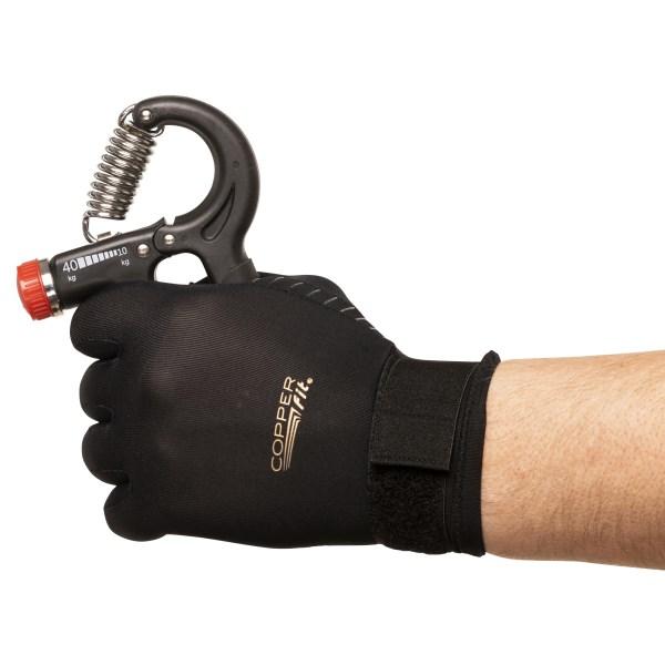 Copper Fit Hand Relief Gloves S/M Svart