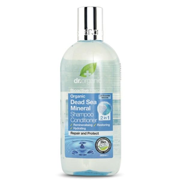 Dr Organic Dödahavsmineraler Schampo & Balsam 2-i-1 265 ml