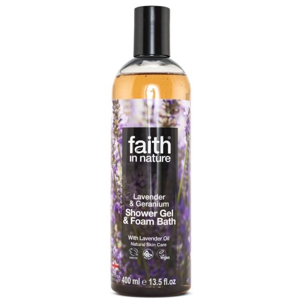 Faith in Nature Lavender & Geranium Duschgel 400 ml