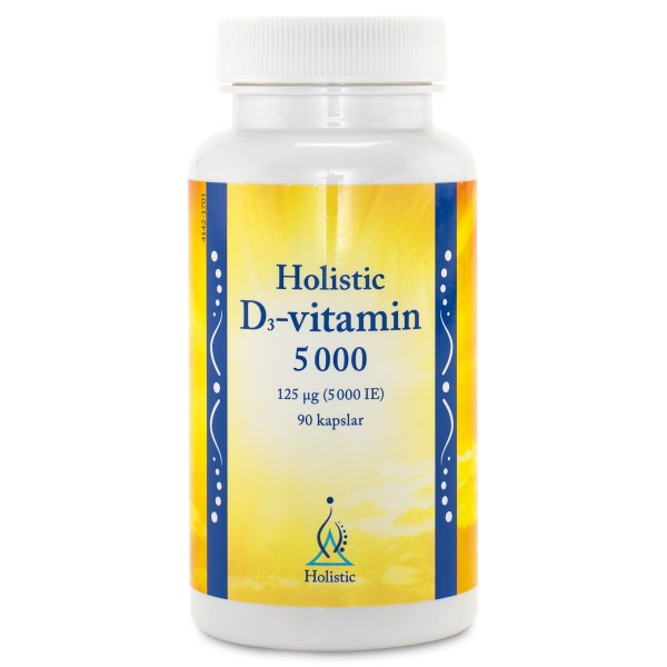 Holistic D3-vitamin 5000 IE 90 kaps