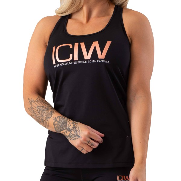 ICIW Rose Gold Limited Edition Tanktop Wmn M Black