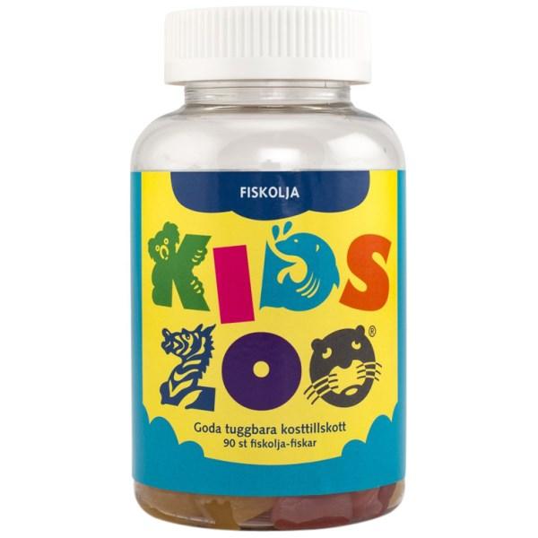 KidsZoo Fiskolja Tuggisar 90 tuggtabl