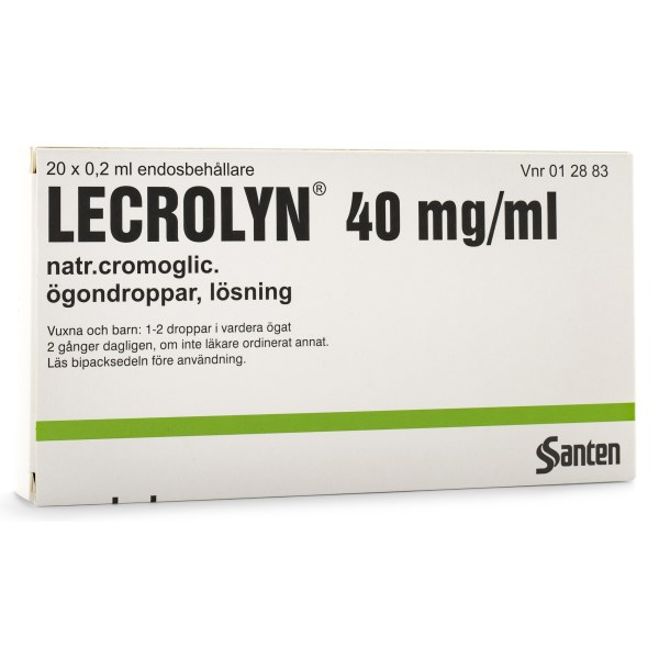 Lecrolyn Ögondroppar 40 mg/ml 20-pack