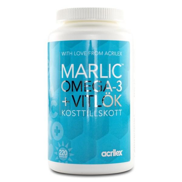 Marlic Omega-3 Vitlök 220 kaps