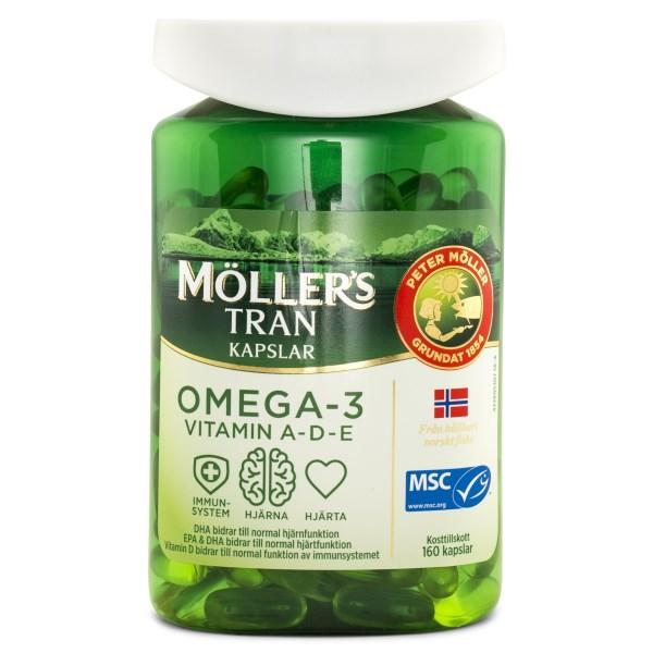 Möllers Omega-3 Tranbär 160 kaps
