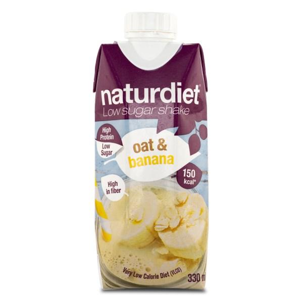 Naturdiet Low Sugar Shake Oat & Banana 1 st