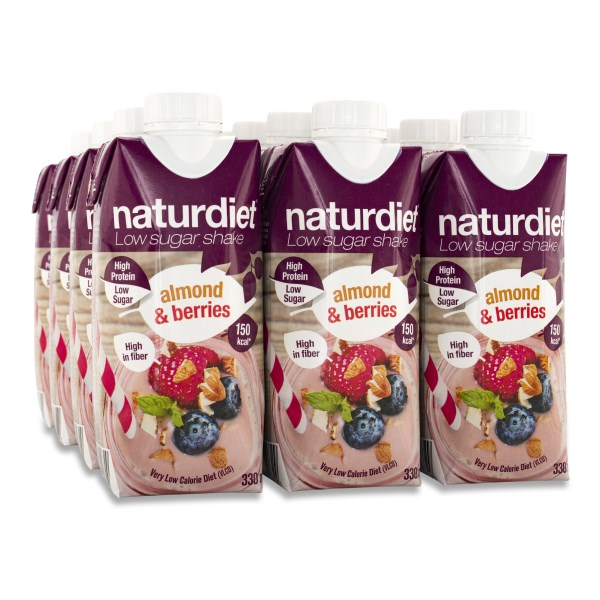Naturdiet Low Sugar Shake Almond & Berries 12-pack