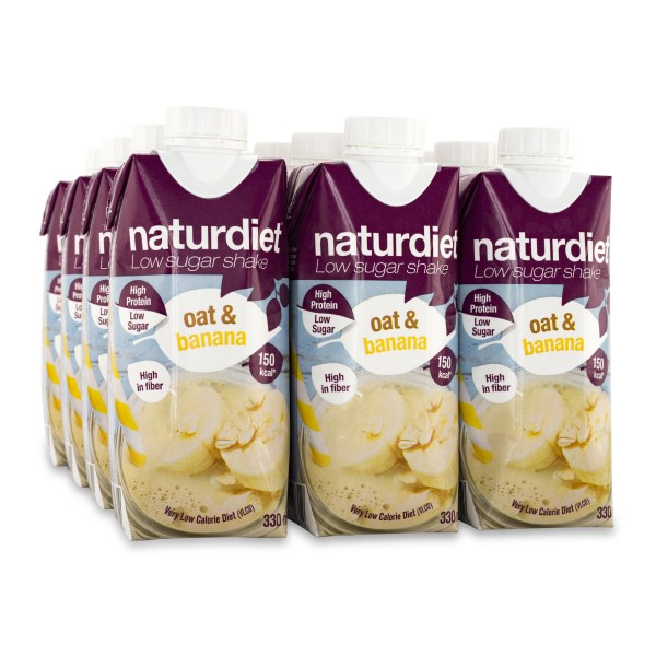 Naturdiet Low Sugar Shake Oat & Banana 12-pack