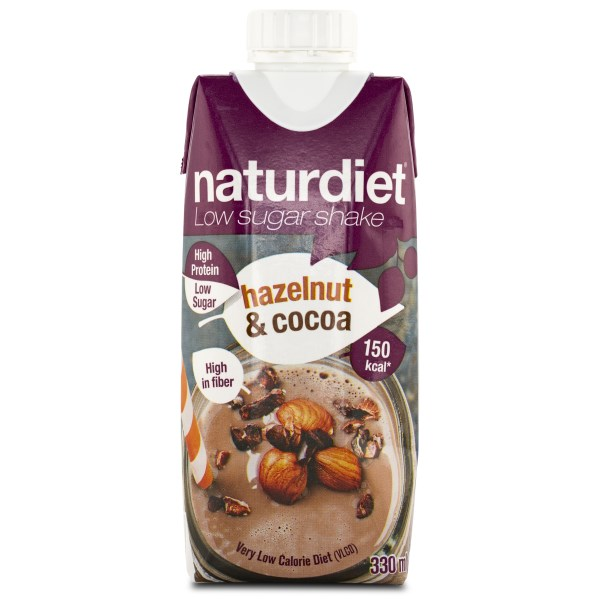 Naturdiet Low Sugar Shake Hazelnut & Cocoa 1 st