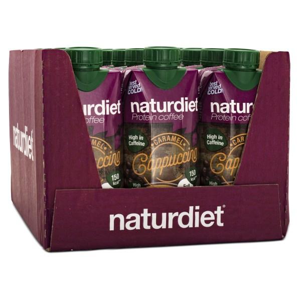 Naturdiet Shake Protein Coffee Cappucino 12-pack