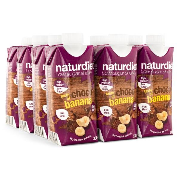 Naturdiet Shake Chocobanana 12-pack