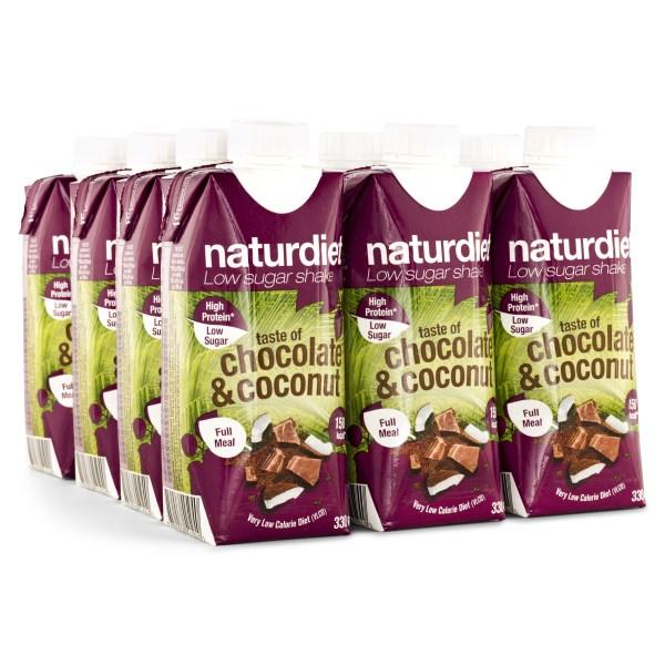 Naturdiet Shake Chocolate and Coconut 12-pack
