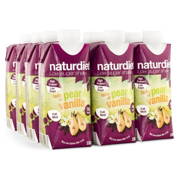 Naturdiet Shake Pear & Vanilla 12-pack