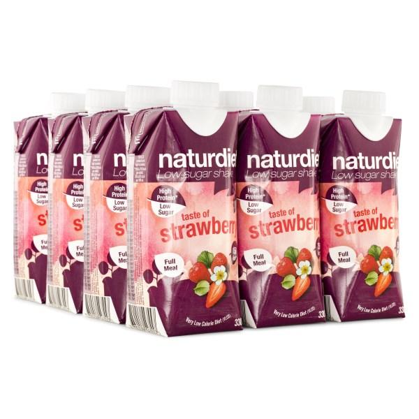 Naturdiet Shake Jordgubb 12-pack