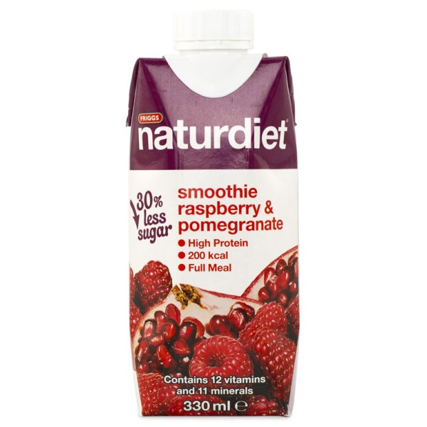 Naturdiet Smoothie Raspberry & Pomegranate 330 ml