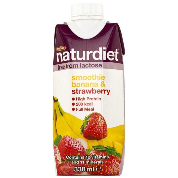 Naturdiet Smoothie Banana & Strawberry 330 ml