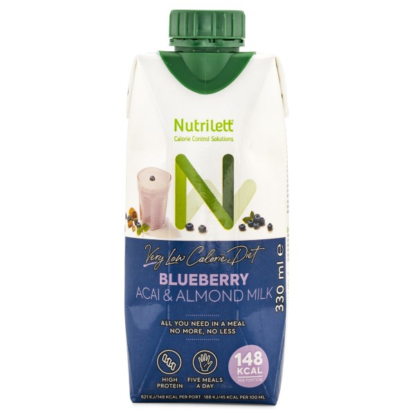 Nutrilett VLCD Smoothie Almond Milk Blueberry Acai 1 st