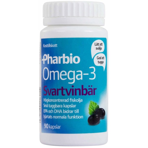 Pharbio Omega-3 Svartvinbär Svartvinbär 90 kaps
