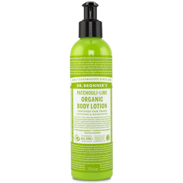 Dr Bronner Organic Body Lotion Patchouli Lime 240 ml