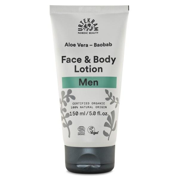 Urtekram Men Aloe Vera Baobab Face & Body Lotion 150 ml