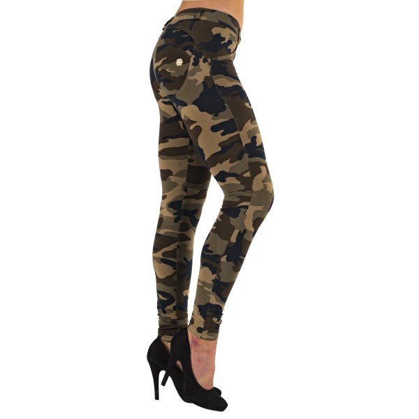 WR.UP Low Waist Skinny Camo L Mörk Camo