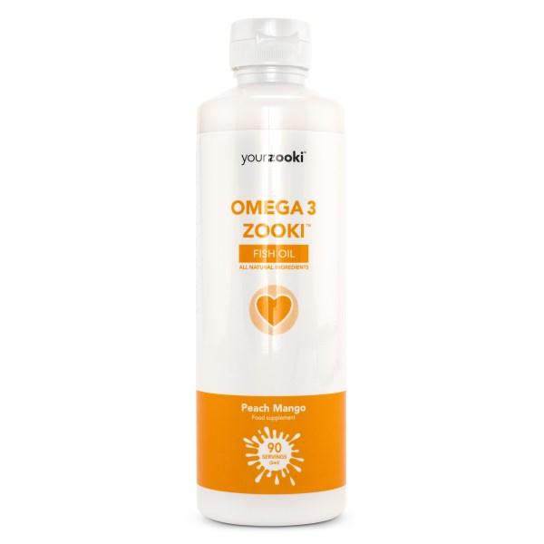 YourZooki Omega 3 Persika & Mango 450 ml