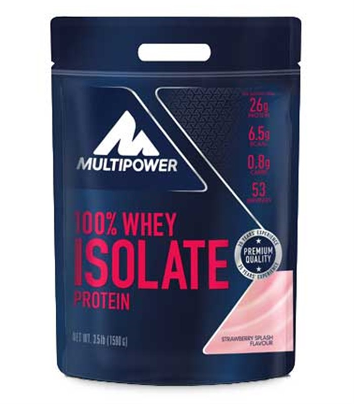 100% Whey Isolate, Muskelbyggande & Prestation - Multipower