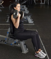 Sittande bicepscurl stopp