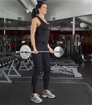 Bicepscurl med skivstång start