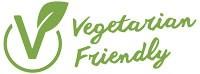 Logotyp för Vegetarian Friendly - ett bra vegetariskt val.