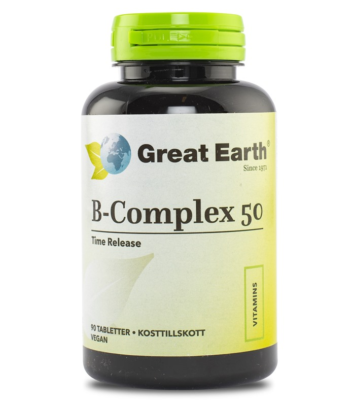B-Complex 50 mg, Vitaminer och mineraler - Great Earth