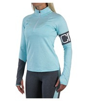 ICANIWILL Melange Insert Long Sleeve Zip Women