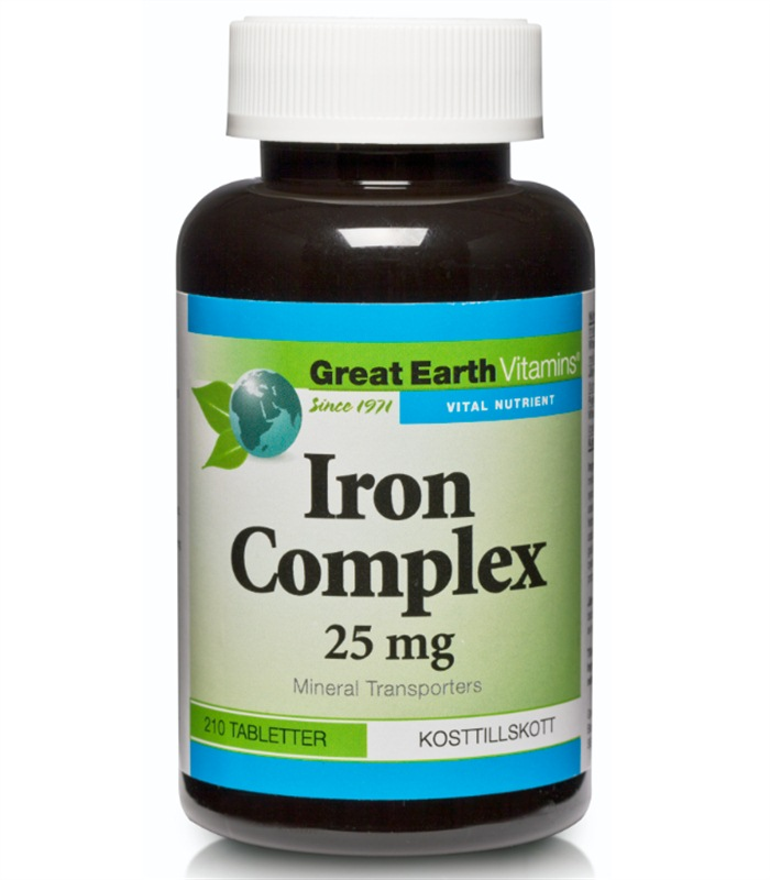 Great Earth Iron Complex 25 mg, Hälsa & Livsmedel - Great Earth
