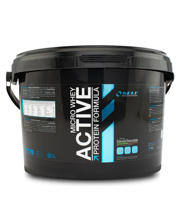 Micro Whey Active Stevia, Muskelbyggande & Prestation - Self Omninutrition