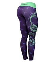 Six Deuce Peacock Fitness Tights