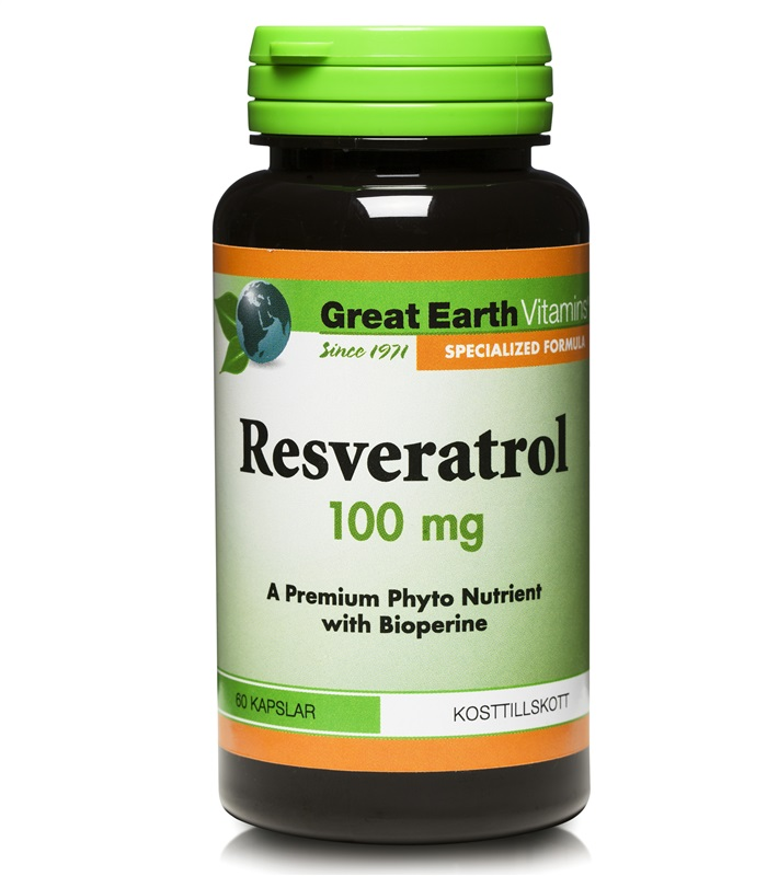 Reservatrol 100 mg, H�lsa & Livsmedel - Great Earth