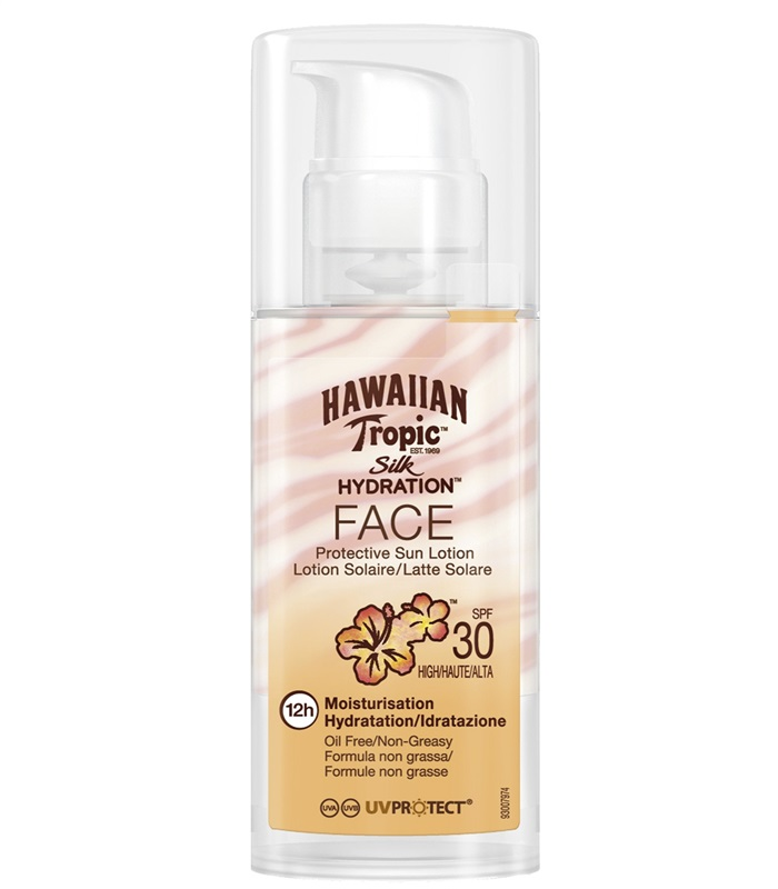 Silk Hydration Face Sun Lotion SPF 30, Kroppsvård & Skönhet - Hawaiian Tropic