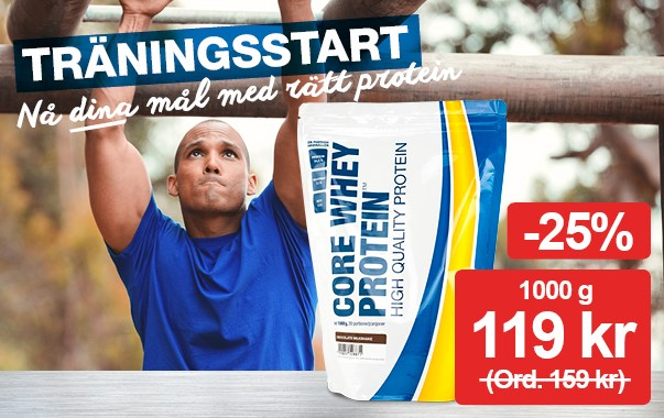 -25% på Core Whey Protein