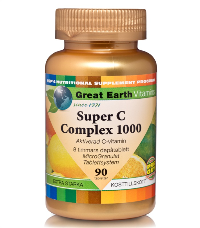 Super C-Complex 1000, Vitaminer och mineraler - Great Earth