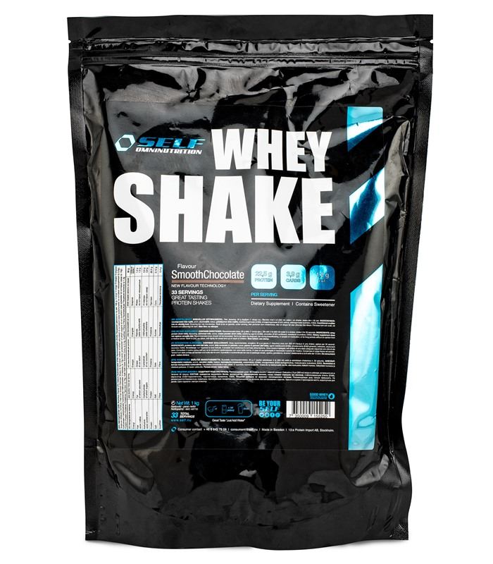 Whey Shake , Muskelbyggande & Prestation - Self Omninutrition